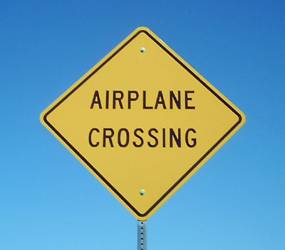 Airplane Crossing Funniest Road Sign